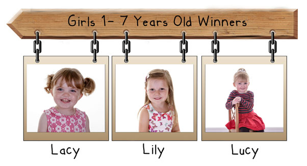 girls 1-7 years