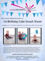 1st birthday cake smash boy gift voucher, Hebburn, Newcastle. Village Photography