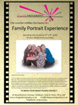 Family Portrait experience Gift Voucher. Village Photography Newcastle