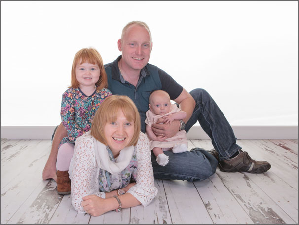 Family Portrait - Stacey, Johnny & daughters