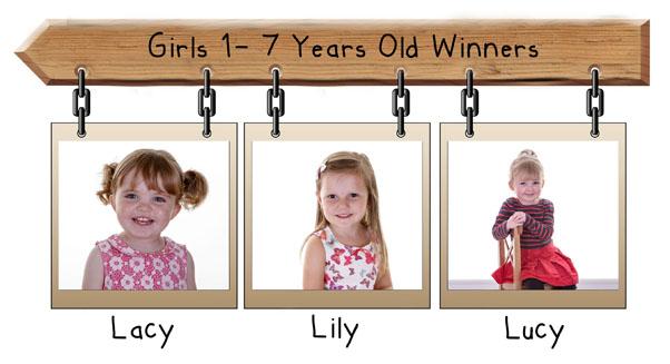 girls 1-7 years