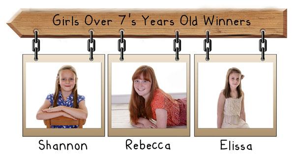 girls over 7 years winners