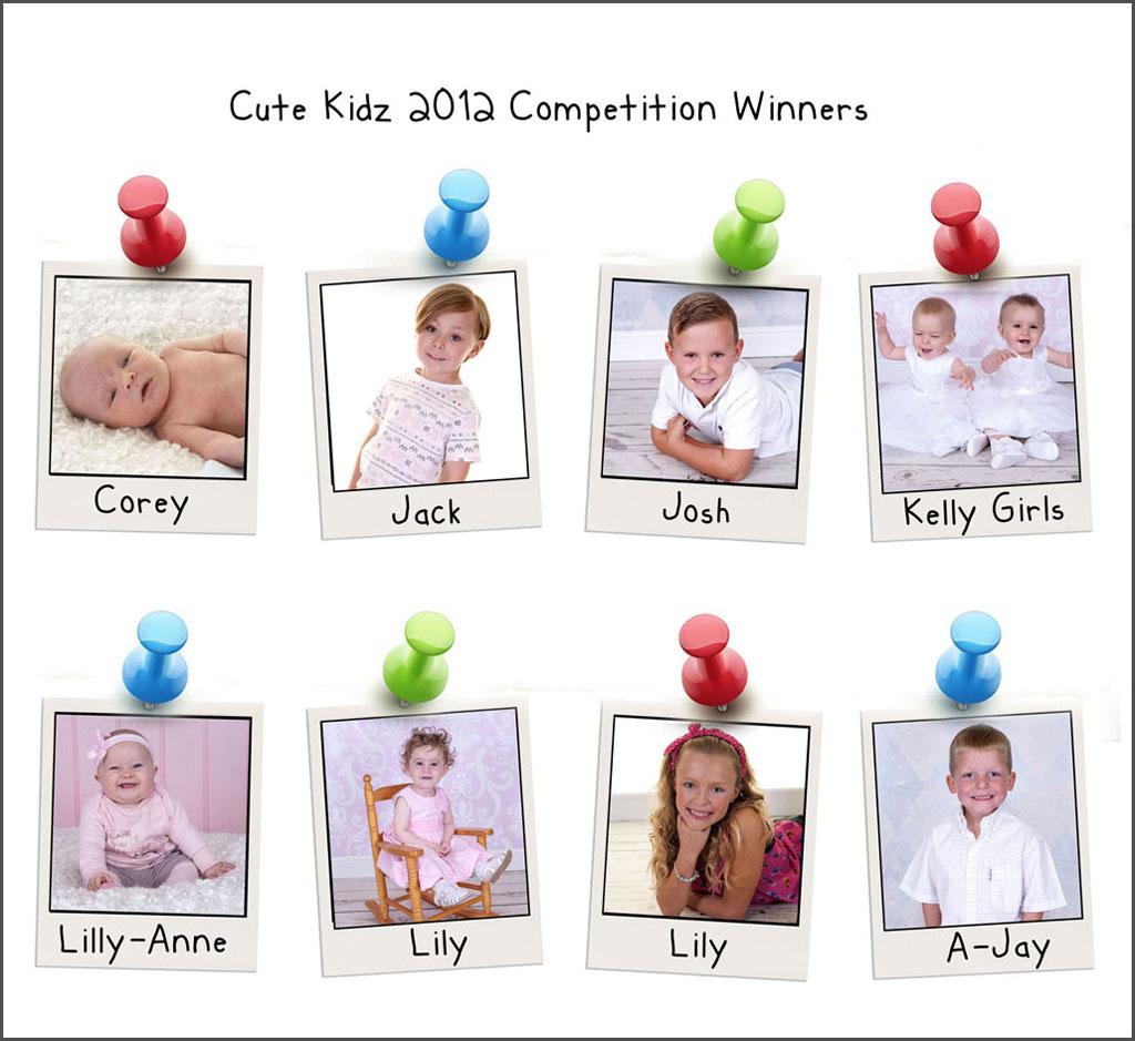 2012 cute kidz winners