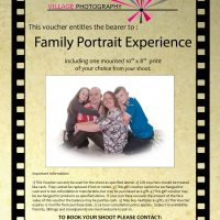 Family Portrait experience Gift Voucher. Village Photography Newcastle
