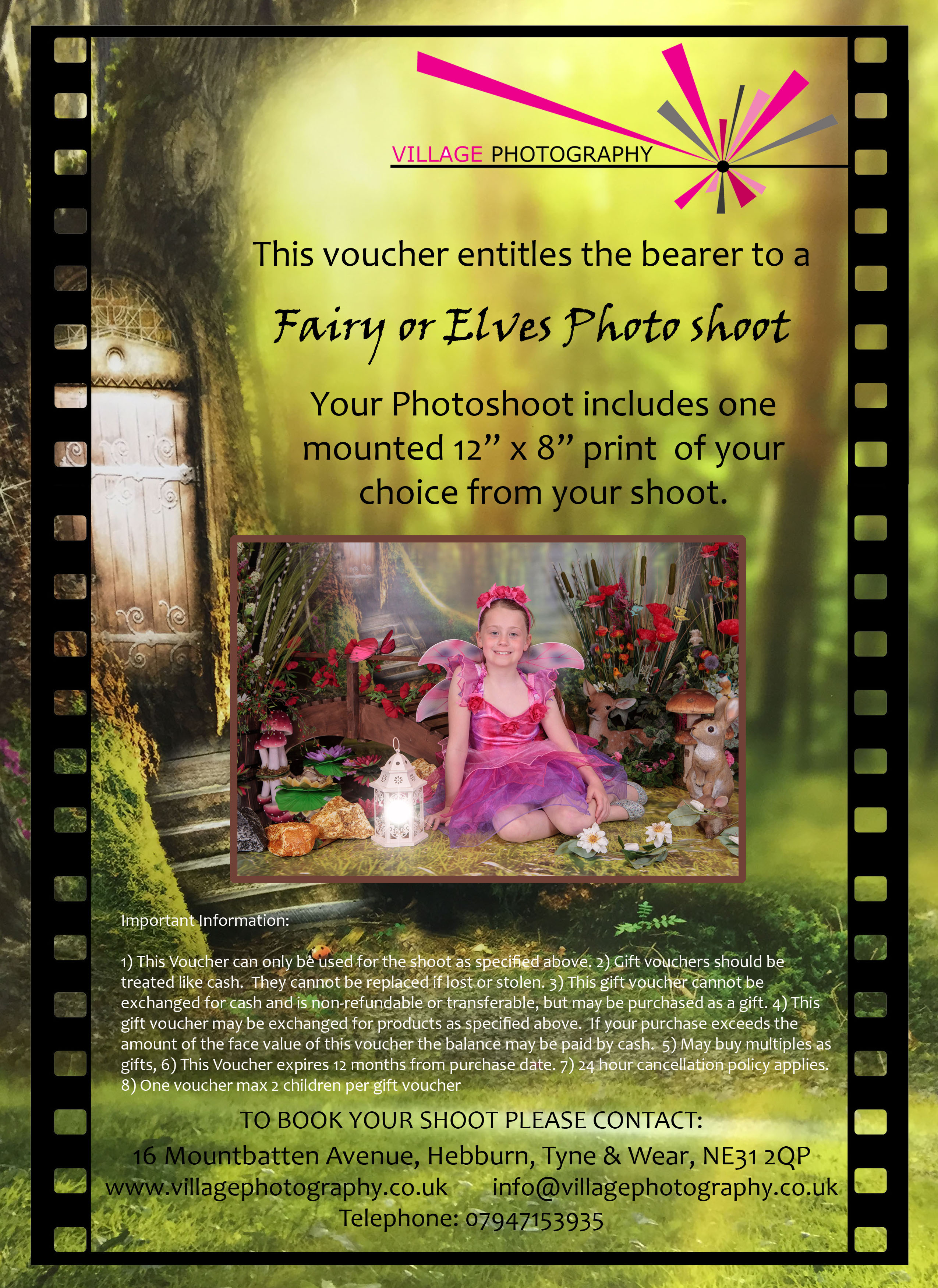 Fairies & Elves Woodland Adventure, Village Photography, Hebburn, Fairy Shoot Newcastle. Gift Voucher