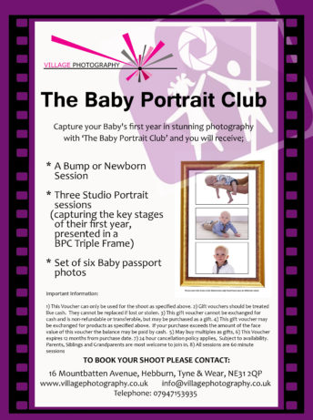Baby Portrait Club, Village Photography Newcastle