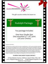 Christmas Themed Photo shoot Gift Voucher, Village Photography, Newcastle